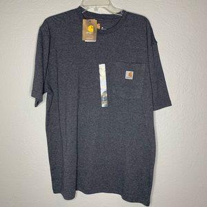 Carhartt Dark Gray T-Shirt Pocket Shirt New Size M